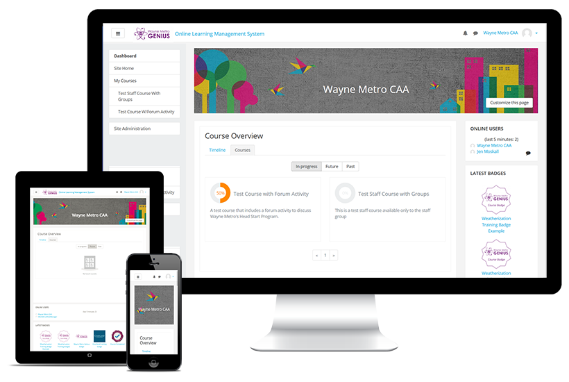 Wayne Metro Genius - Learning Management System