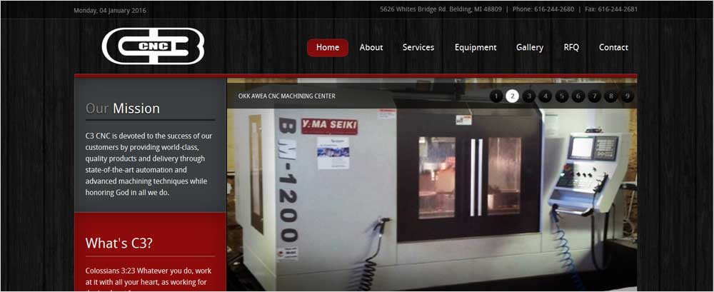 Responsive Web Design For Manufacturing Business Courtland Consulting Courtland Consulting
