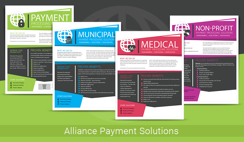 Alliance Payment Solutions Marketing Brochures