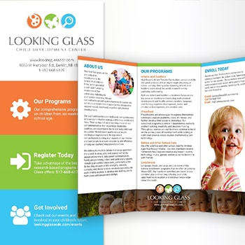 Looking Glass Child Development Center Logo & Brochure