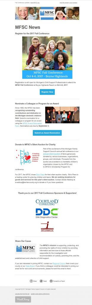 MIFSC Email Newsletter