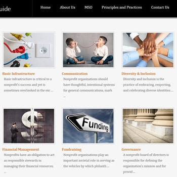 Nonprofit Good Practice Website Design