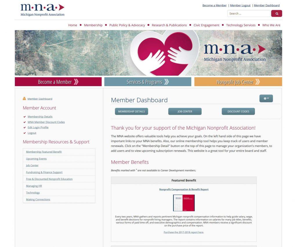 MNA Member Dashboard