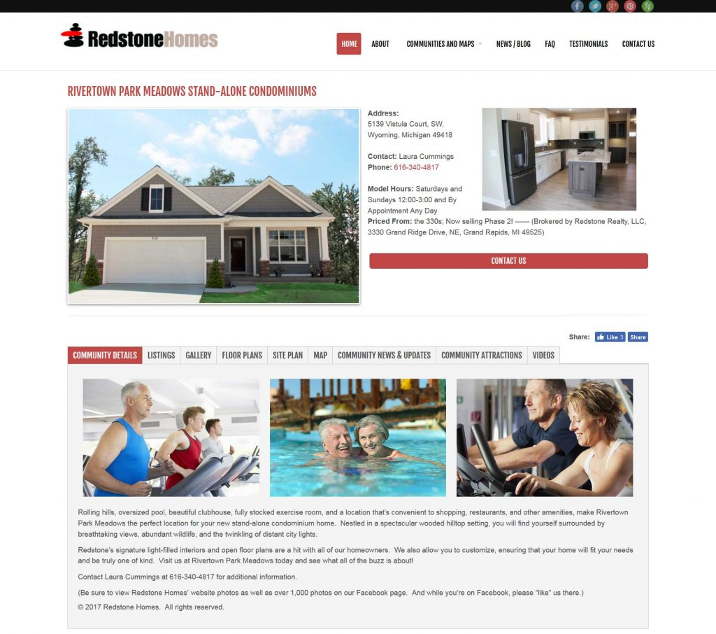 Redstone Homes Community Listings Page