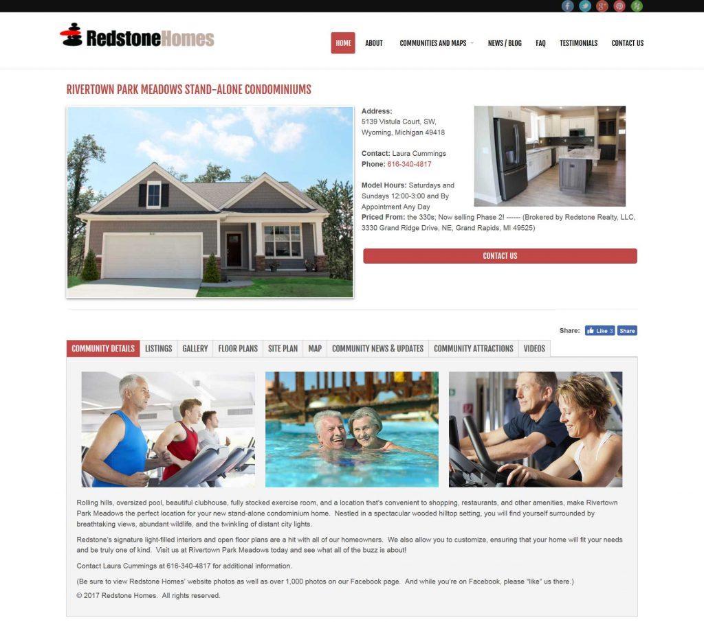 Redstone Homes Community Listings Page