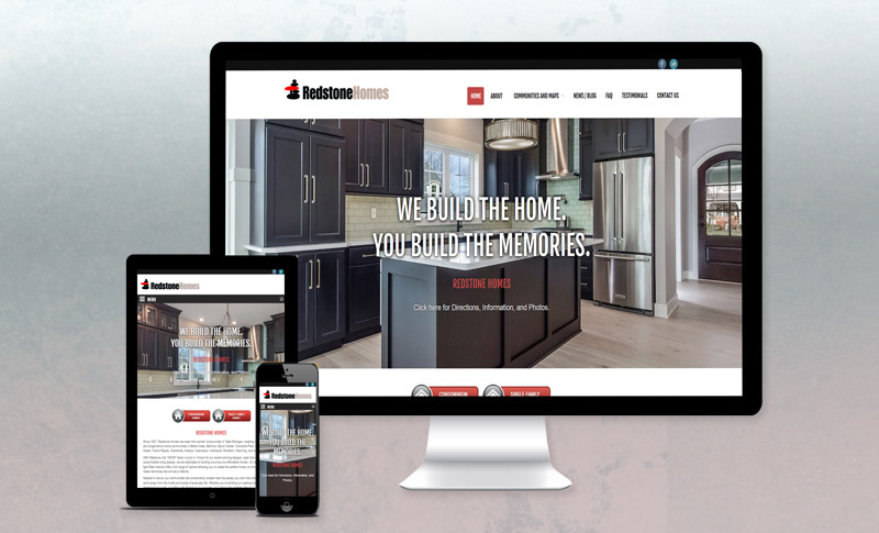 Website Design & Development for Redstone Homes