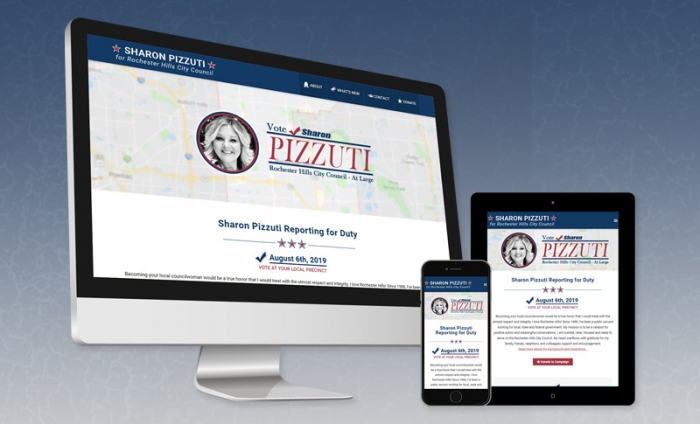 Website Design - Sharon Pizzuti for City Council