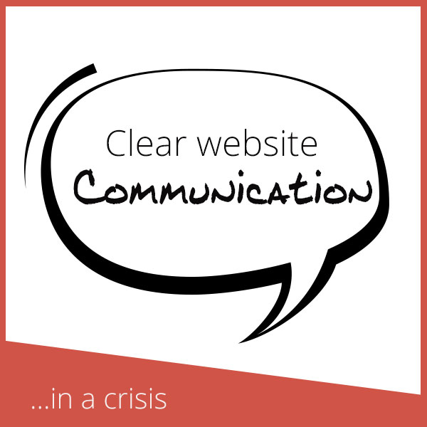 Clear Website Communication in a Crisis