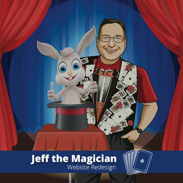 Jeff the Magician Website Redesign