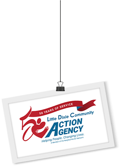 Little Dixie Community Action Agency 50th Anniversary Logo Design