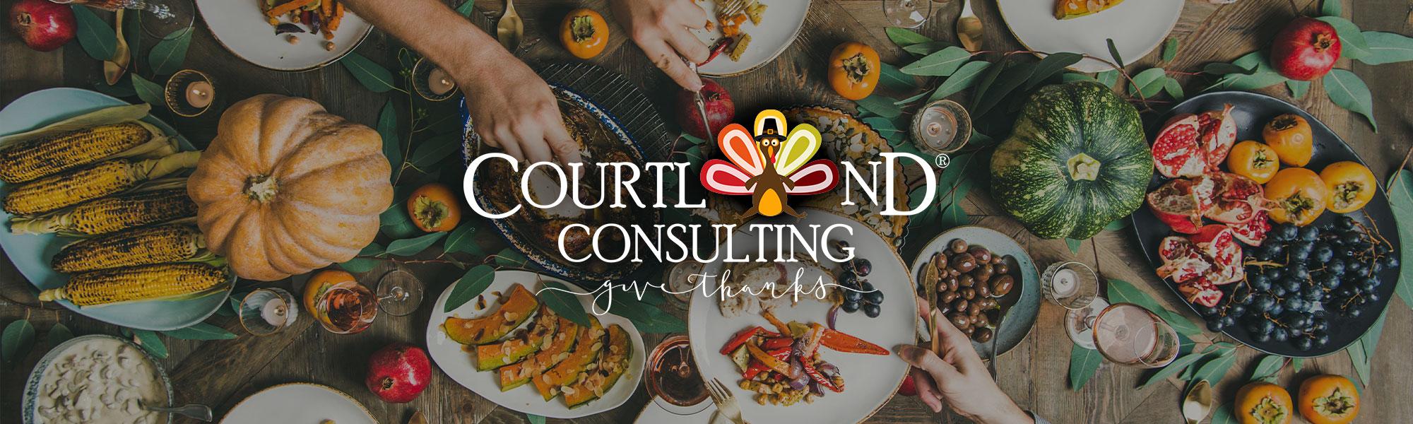 Courtland logo festive makeover