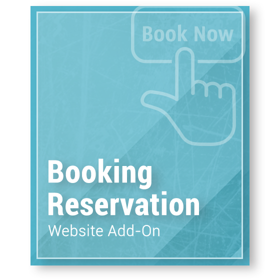 Website Add-On - Booking Reservation Tool