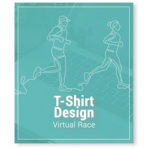 Virtual Race Fundraising T-Shirt Design